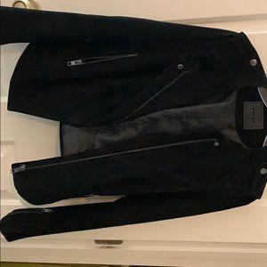 Black suede jacket. Worn once.